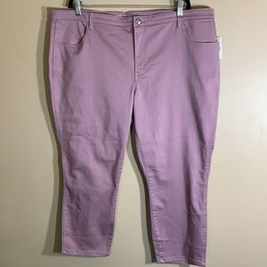 Reitmans Purple High Rise Cropped Jeans